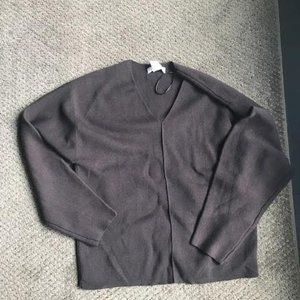 Brown Wool V-neck from H and M